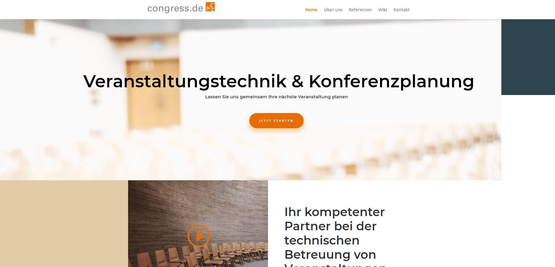 Pagestarter Websiteerstellung Referenz congress